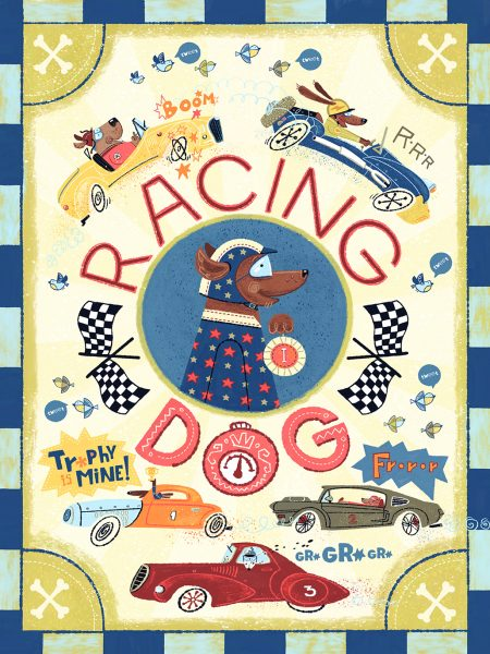 Cars and dogs poster