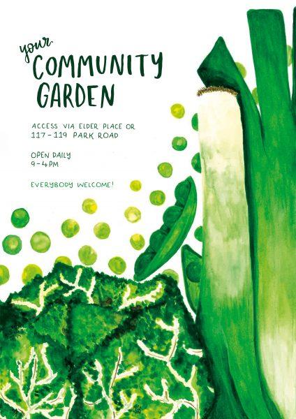 Community Garden Veg Poster AOI