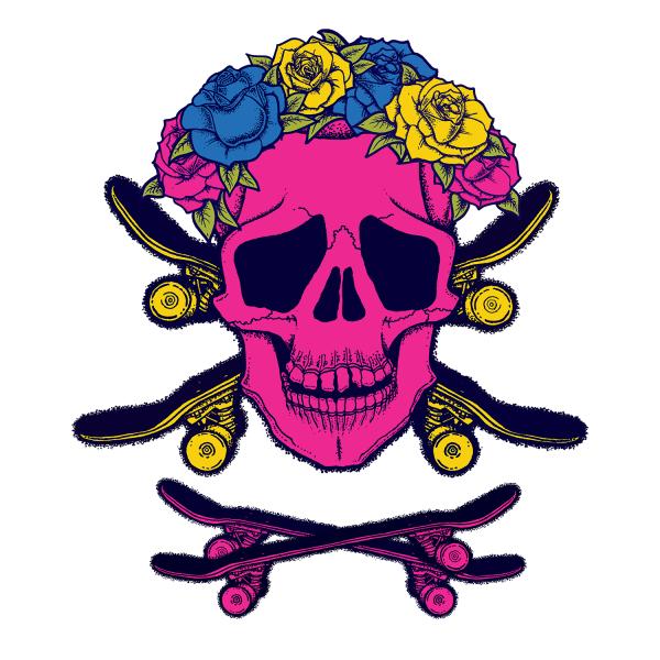 Skull and Cross-Skateboards logo