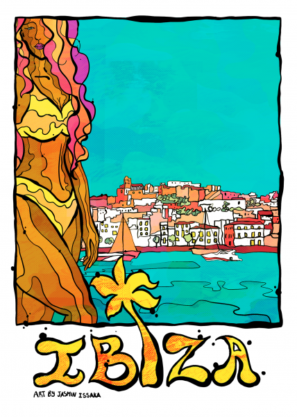 Ibizia Postcard