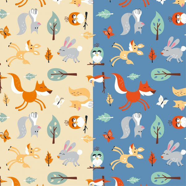Woodland Character Surface Pattern