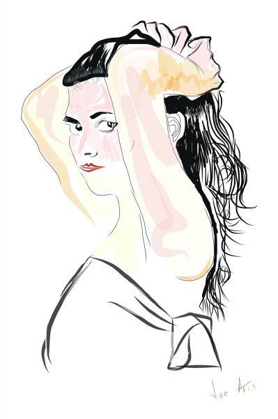 Sketch pad towel- Drawing 1