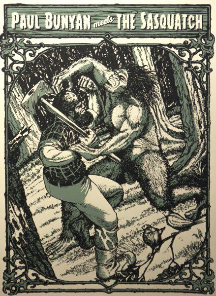 Paul Bunyan meets the Sasquatch
