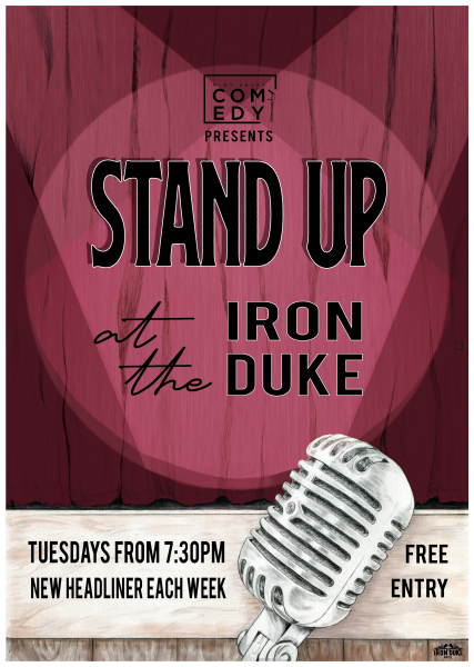 Comedy Poster for the Iron Duke Hotel