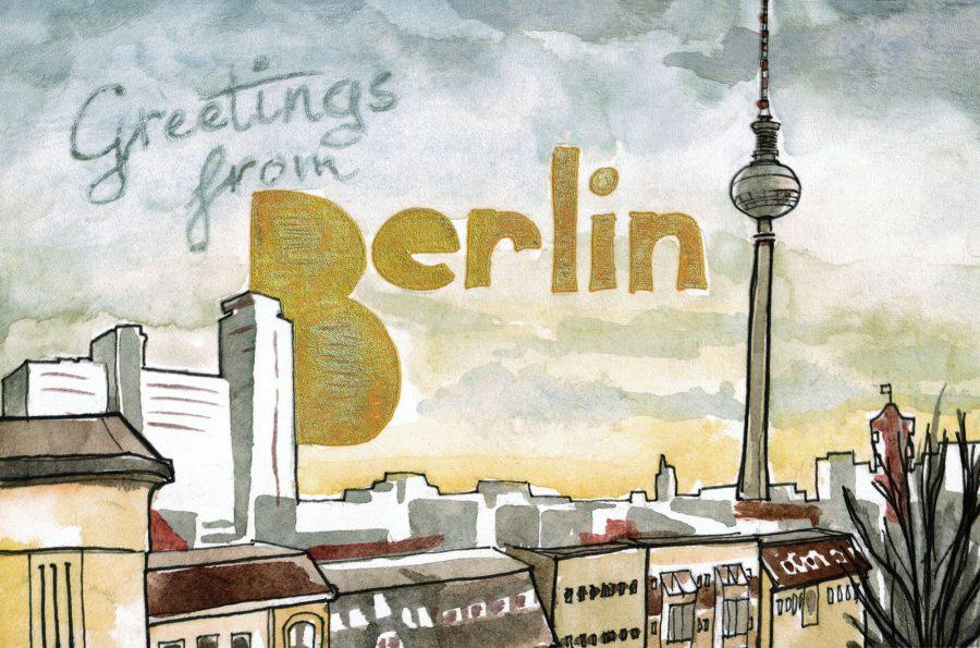 Greetings from Berlin Postcard
