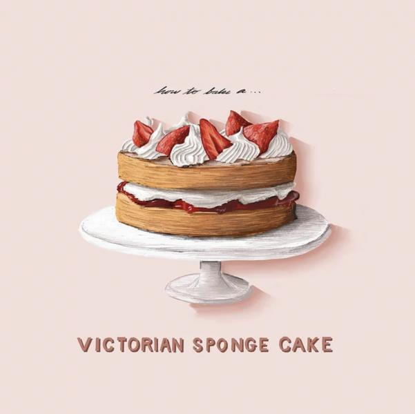 How To Bake a Victorian Sponge Cake Illustration