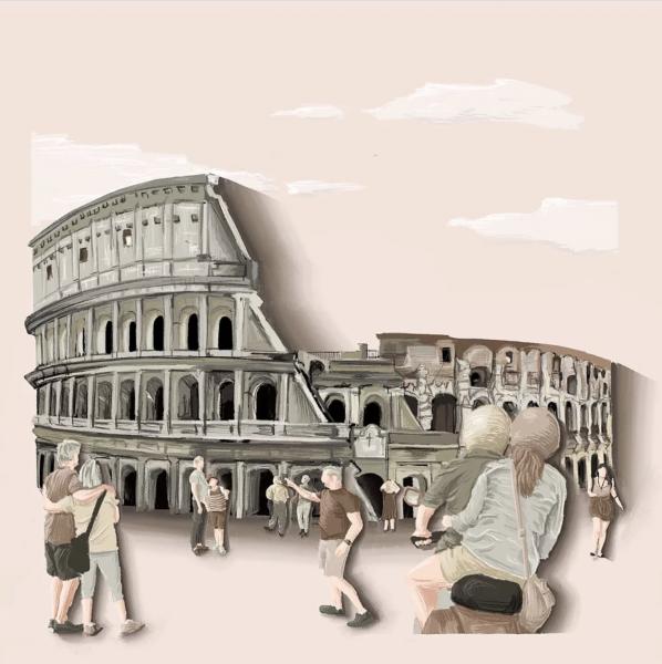 Colosseum, Rome Illustration