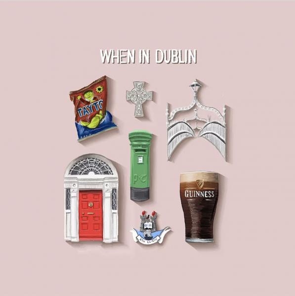 When in Dublin Spot Illustrations