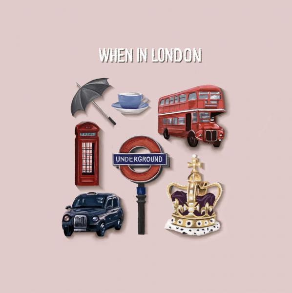 When in London Spot Illustrations