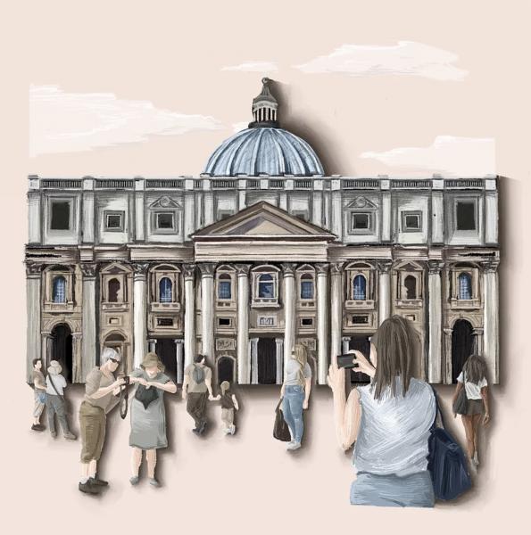 St. Peter's Basilica, Rome Illustration