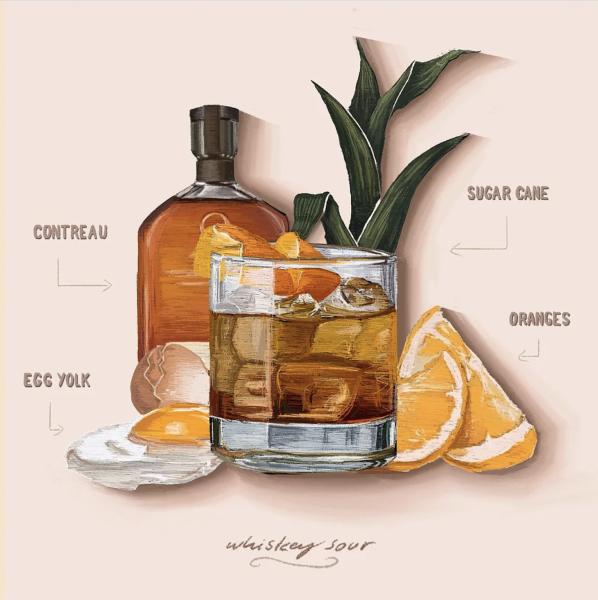 Whiskey Sour Illustration
