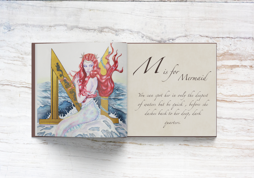 M is for Mermaid spread