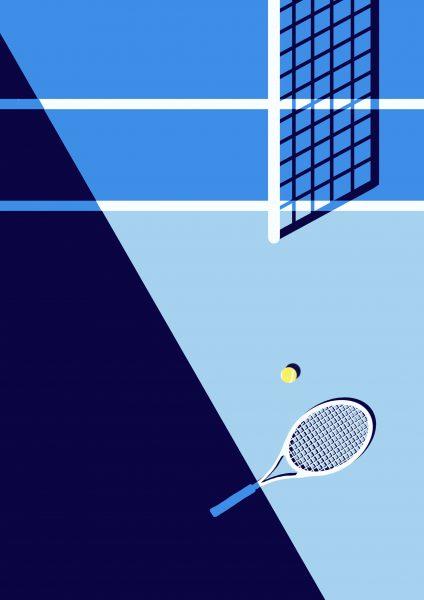 tennis birds eye
