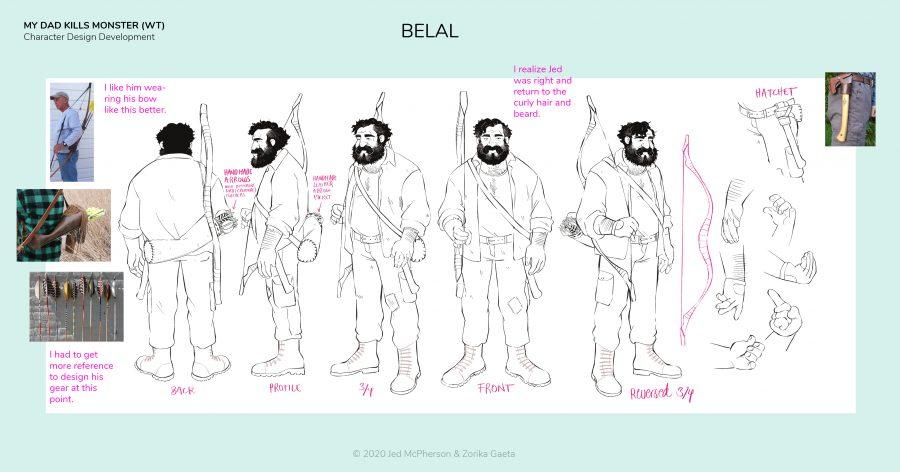 My Dad Kills Monsters - Character Development - Belal