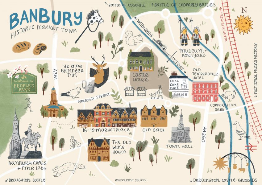 Illustrated map of Banbury