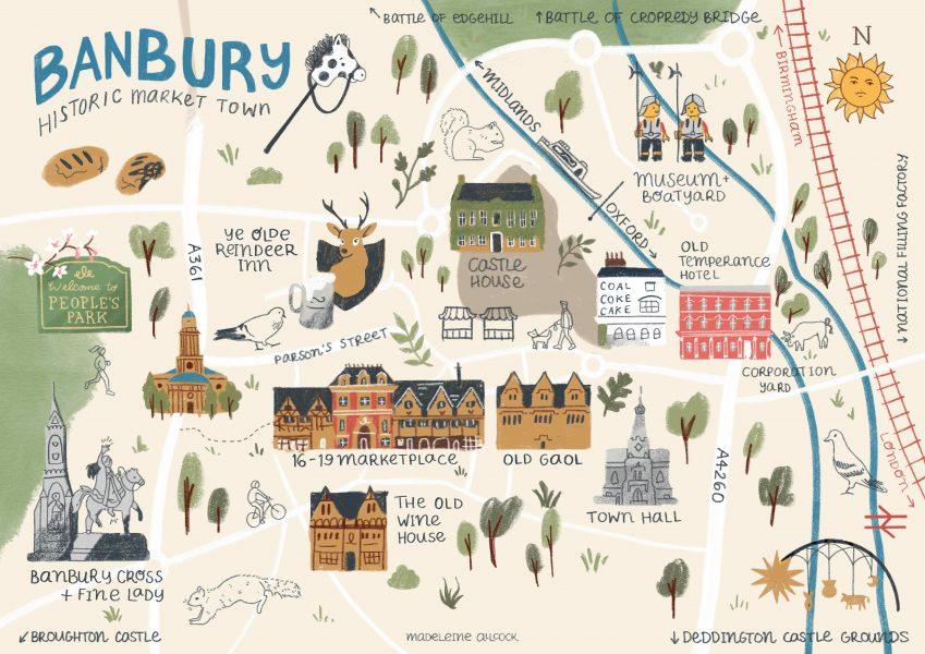 Illustrated map of Banbury
