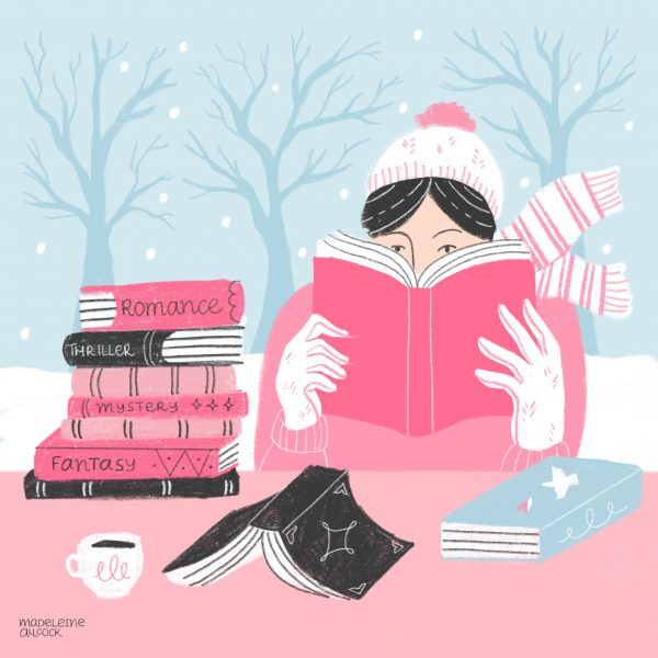 Winter Reading Illustration