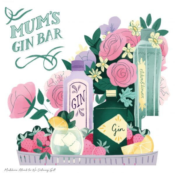 Gin Bar Pop Up Card