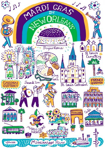 New Orleans Mardi Gras by Julia Gash