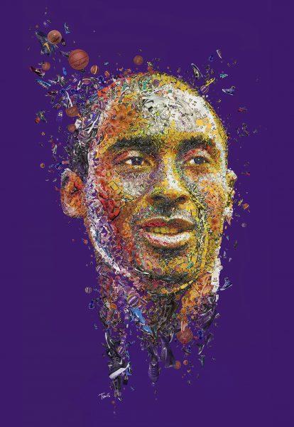 Kobe Bryant Mosaic portrait