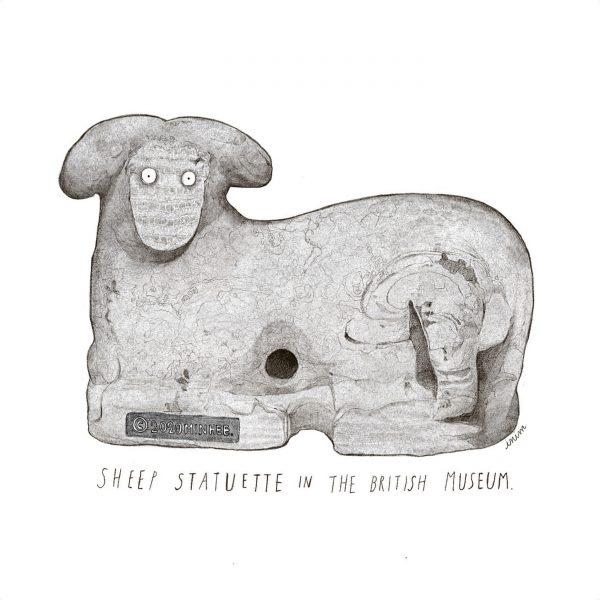 Sheep Statuette in the British Museum