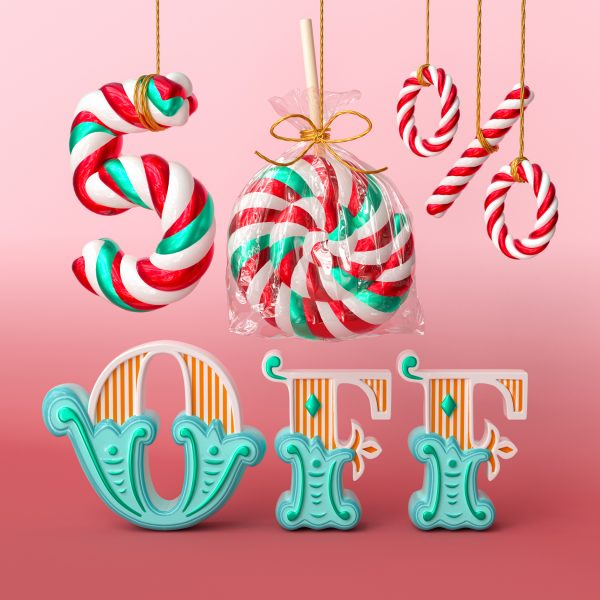 Vintage Christmas typographic project