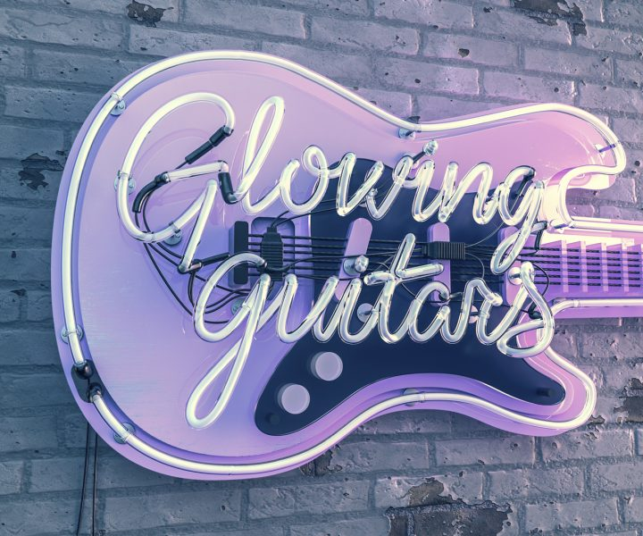 Glowing Guitars Personal work.