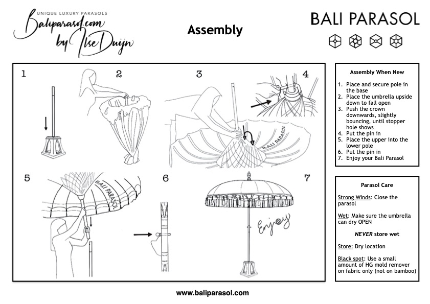 Baliparasol Assembly Instructions