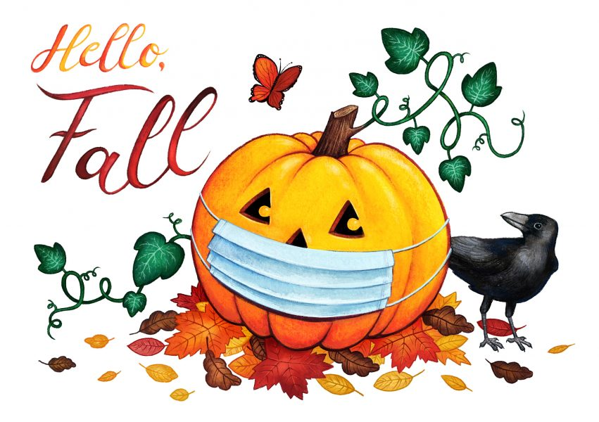 Hello Fall - Covid Card