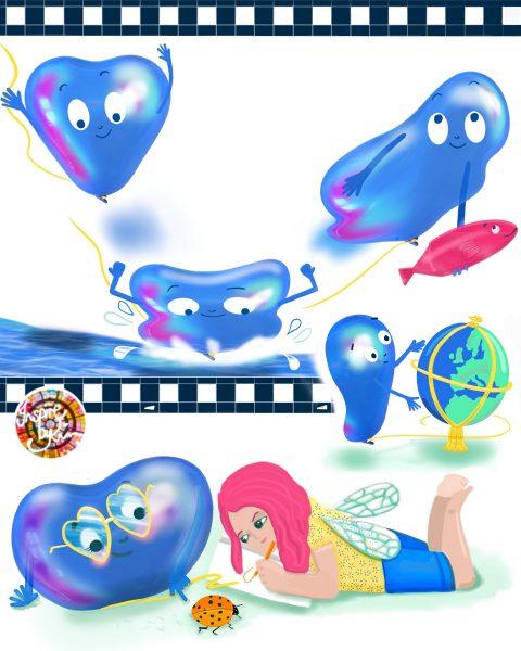 Bob the Balloon Action Poses