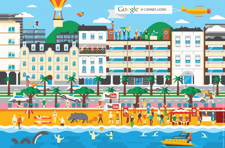 GOOGLE / CANNES LIONS FOR INVITATION CARD WITH UZIK (PM:AXELLE RUSSO)