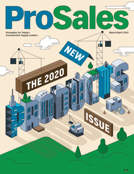 PRO SALES / THE 2020 NEW PRODUCTS ISSUE FOR THE COVER AND THE ARTICLE OF THE MAGAZINE (AD:CAROLYN SEWELL)