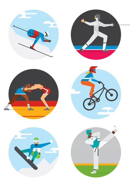 SNCF / SPORTS ILLUSTRATIONS FOR VARIOUS SUPPORTS