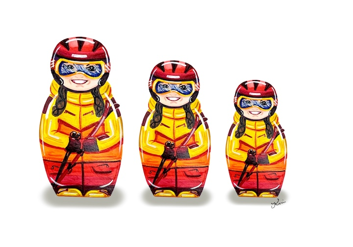Russian Ski Dolls