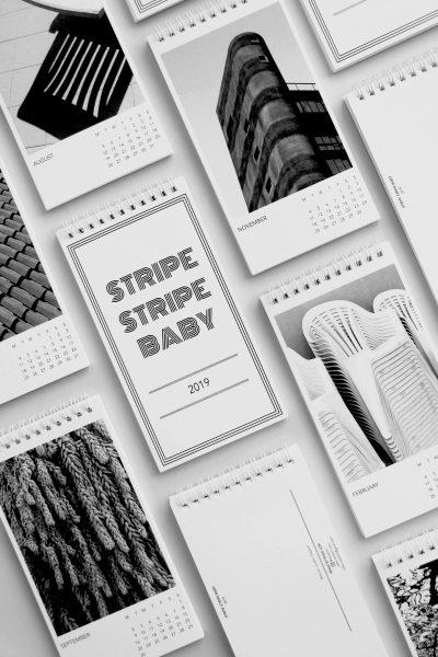 Stripe Stripe Baby 2019 Calendar and Postcard Book