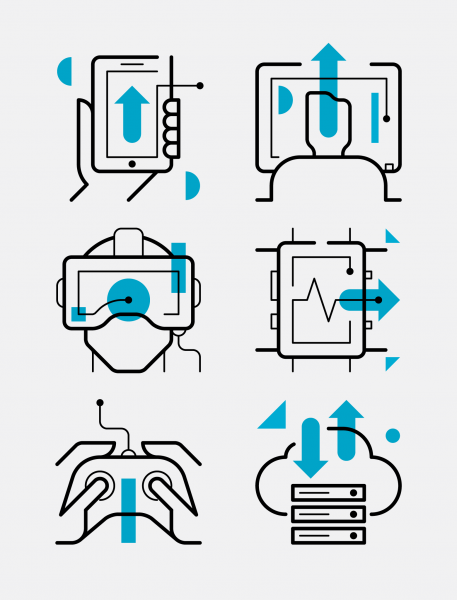 Connected icons