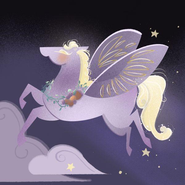 Winged Sugar Plum Horse