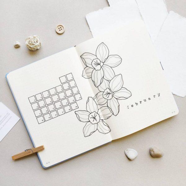 2020 Bullet Journal - February