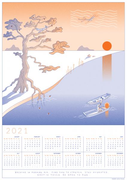 2021 Wellbeing Calendar
