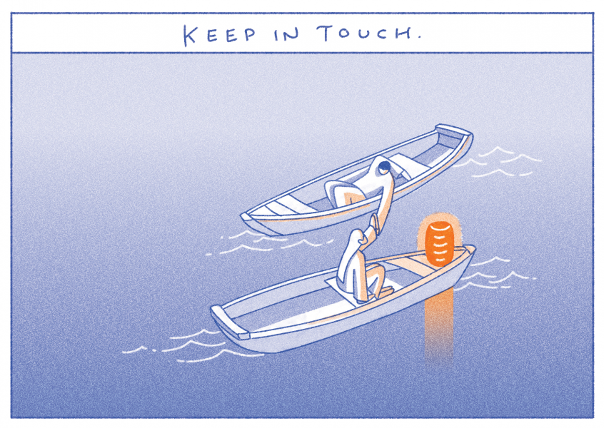 Keep in touch, Postcard
