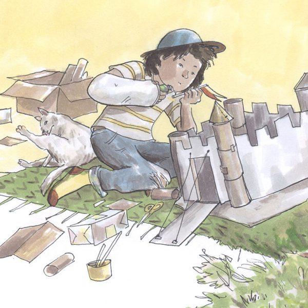 Cardboard Castle (detail)