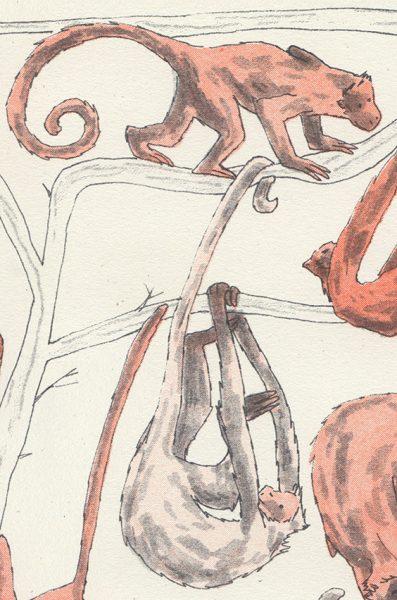 A Mischief of Monkeys, detail
