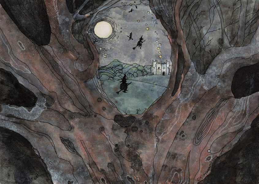 flight-over-mowbrey-castle-by-kirsty-greenwood