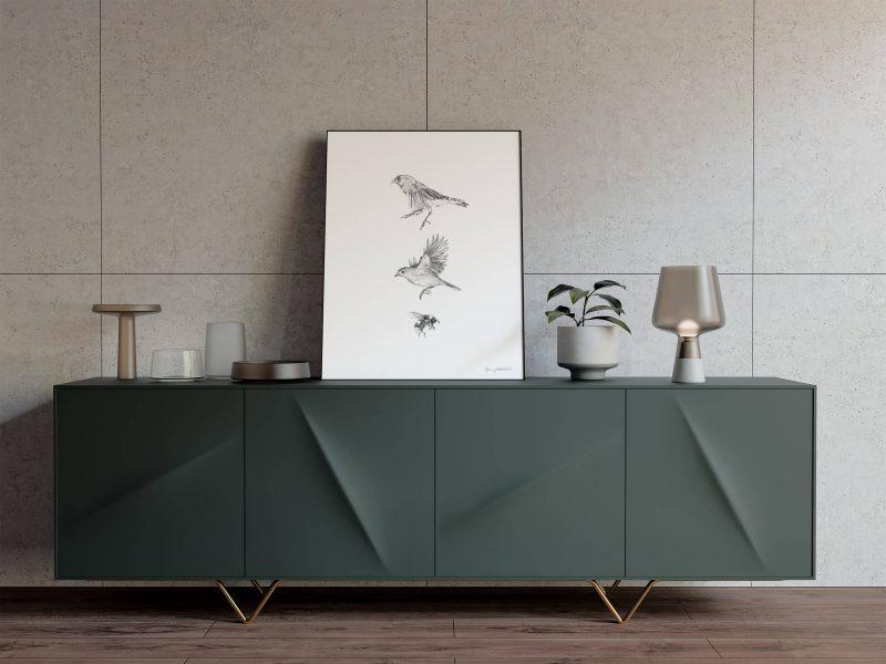 Finch-robin-bumblebee_Finch-and-robin_drawing by Aga Grandowicz