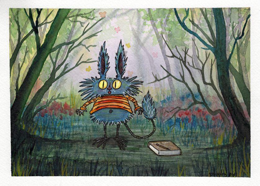 Finnish forest troll