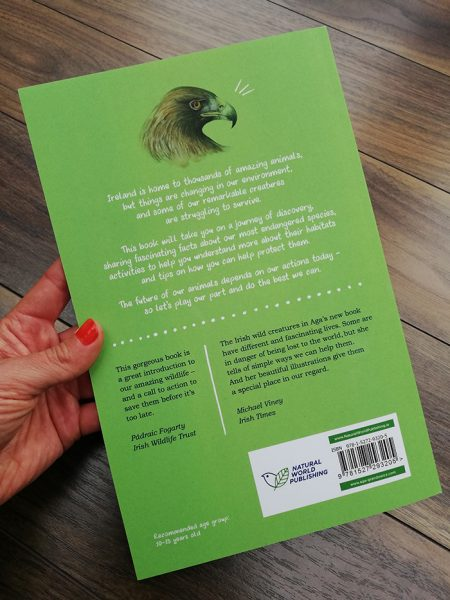 'Remarkable Creatures: a guide to some of Ireland's disappearing animals' book_back cover