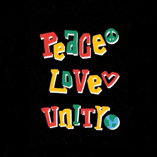 Peace Love Unity Illustration