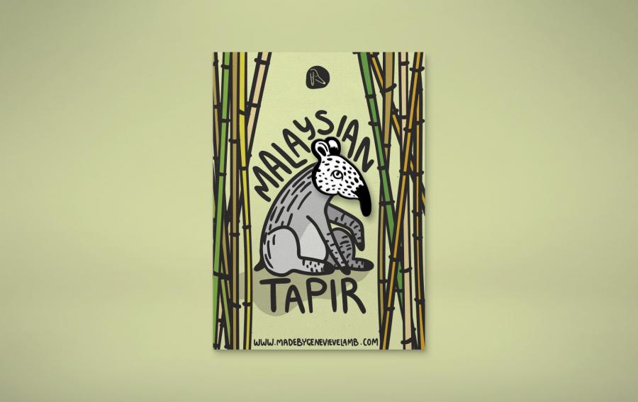 Malayan Tapir Enamel Pin