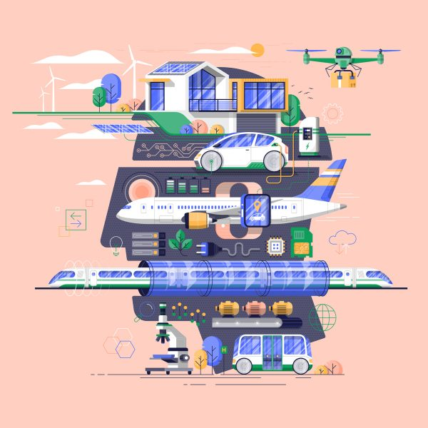 E-Mobility, Editorial illustration