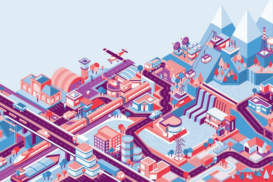 Isometric Switzerland, Website illustration
